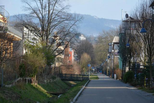 Den gröna stadsdelen Vauban i Freiburg.