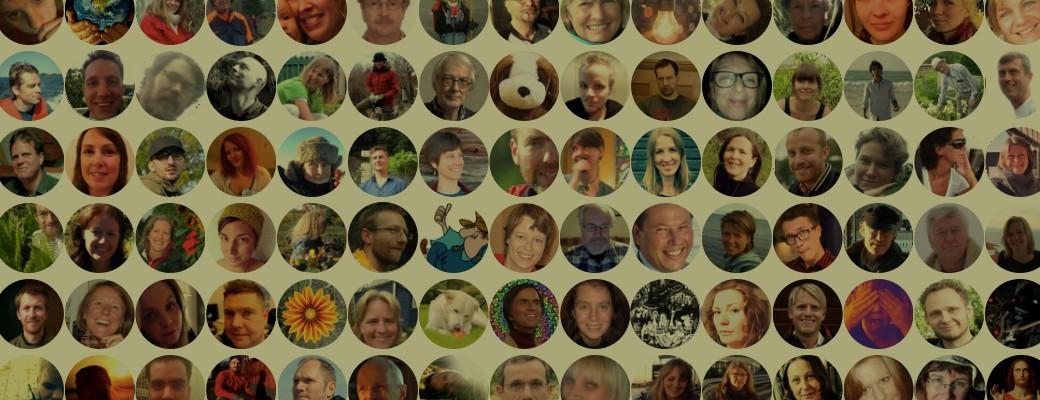 Collage av användare